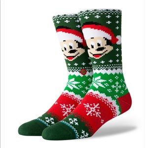 Stance Holiday Mickey Clause Socks Sz Med 8-10.5